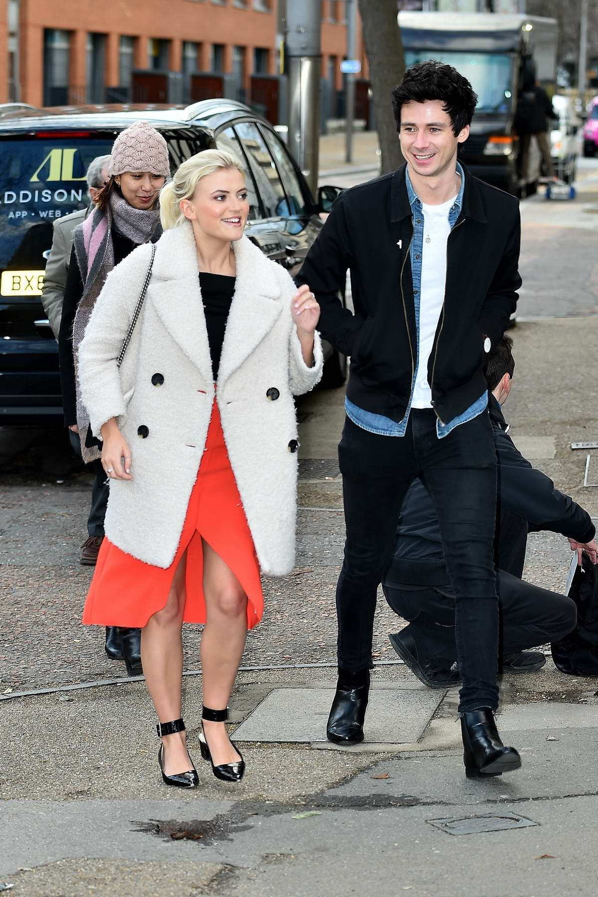 Lucy Fallon And Boyfriend Tom Leech Spotted Outside Itv Studios In London 180118 5