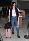 Lucy Hale arrives at LAX airport to catch a flight out of Los Angeles
