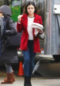 Lucy Hale was spotted on the set of her show 'Life Sentence' in Vancouver, Canada