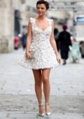 Lucy Mecklenburgh arriving at Galia Lahav Fashion Show at Paris Fashion Week in Paris, France
