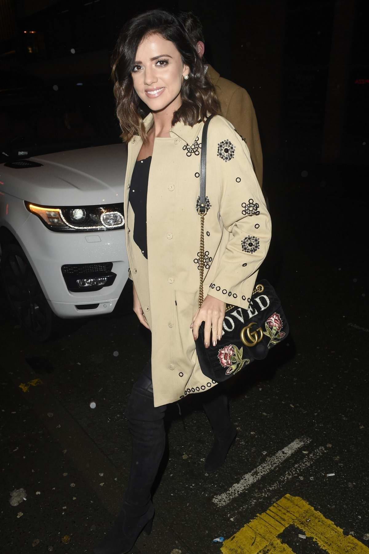 Lucy Mecklenburgh spotted at The Smokehouse Bar and Restaurant in Manchester, UK