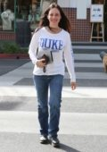 Madeleine Stowe makes a coffee run in Beverly Hills, Los Angeles