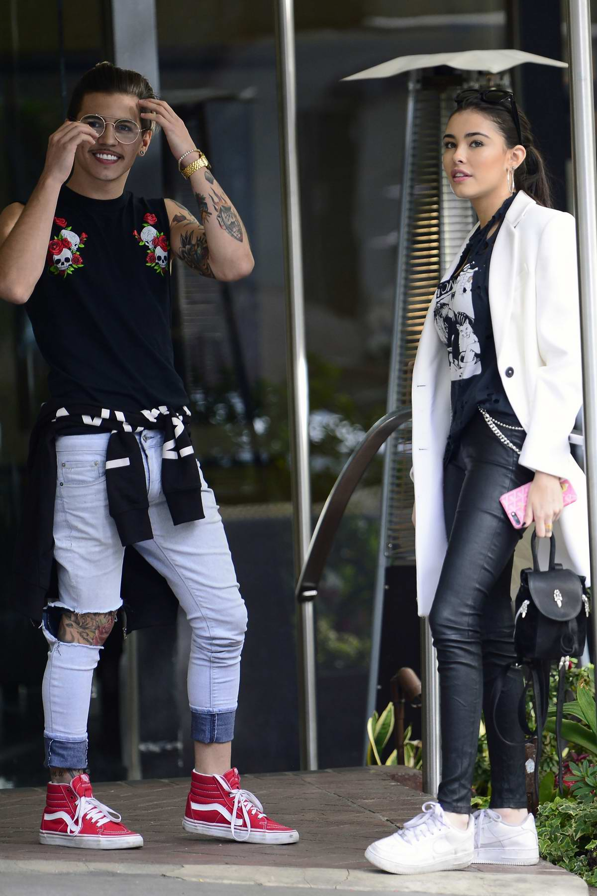 Madison Beer grabs lunch with Brazilian pop singer Biel at Sunset Marquis Hotel in Los Angeles