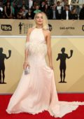 Margot Robbie attends the 24th Annual Screen Actors Guild (SAGs) Awards 2018 at The Shrine Auditorium in Los Angeles