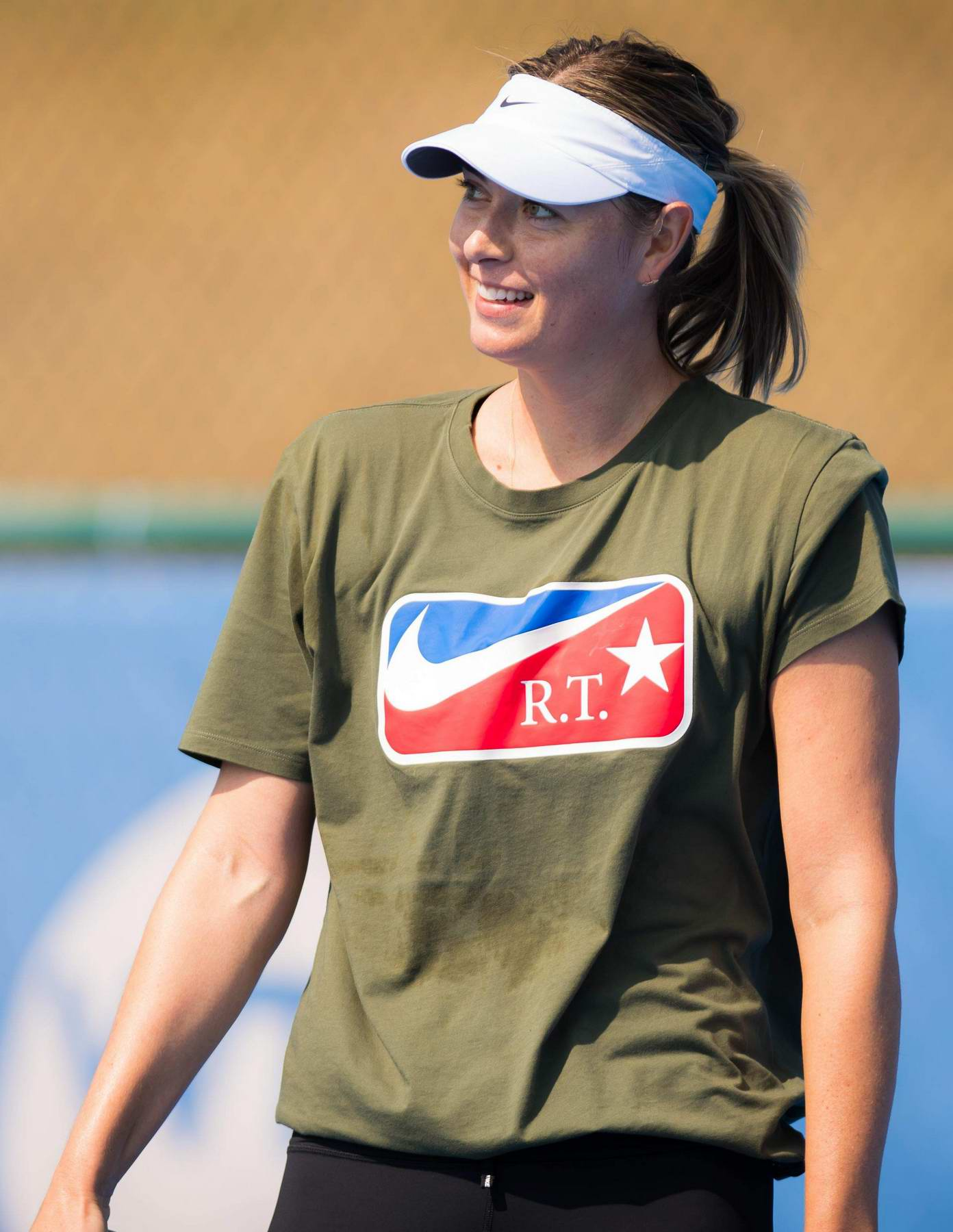 Maria Sharapova during her practice session at 2018 ...