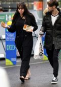 Marnie Simpson and boyfriend Casey Johnson grabs some sandwiches at a gas station in North London
