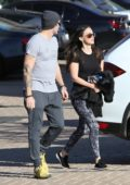 Megan Fox and Brian Austin Green walk back to their car after shopping at Malibu Country Mart, Malibu, California