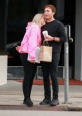 Meghan Trainor and boyfriend Daryl Sabara share a kiss while shopping in West Hollywood, Los Angeles