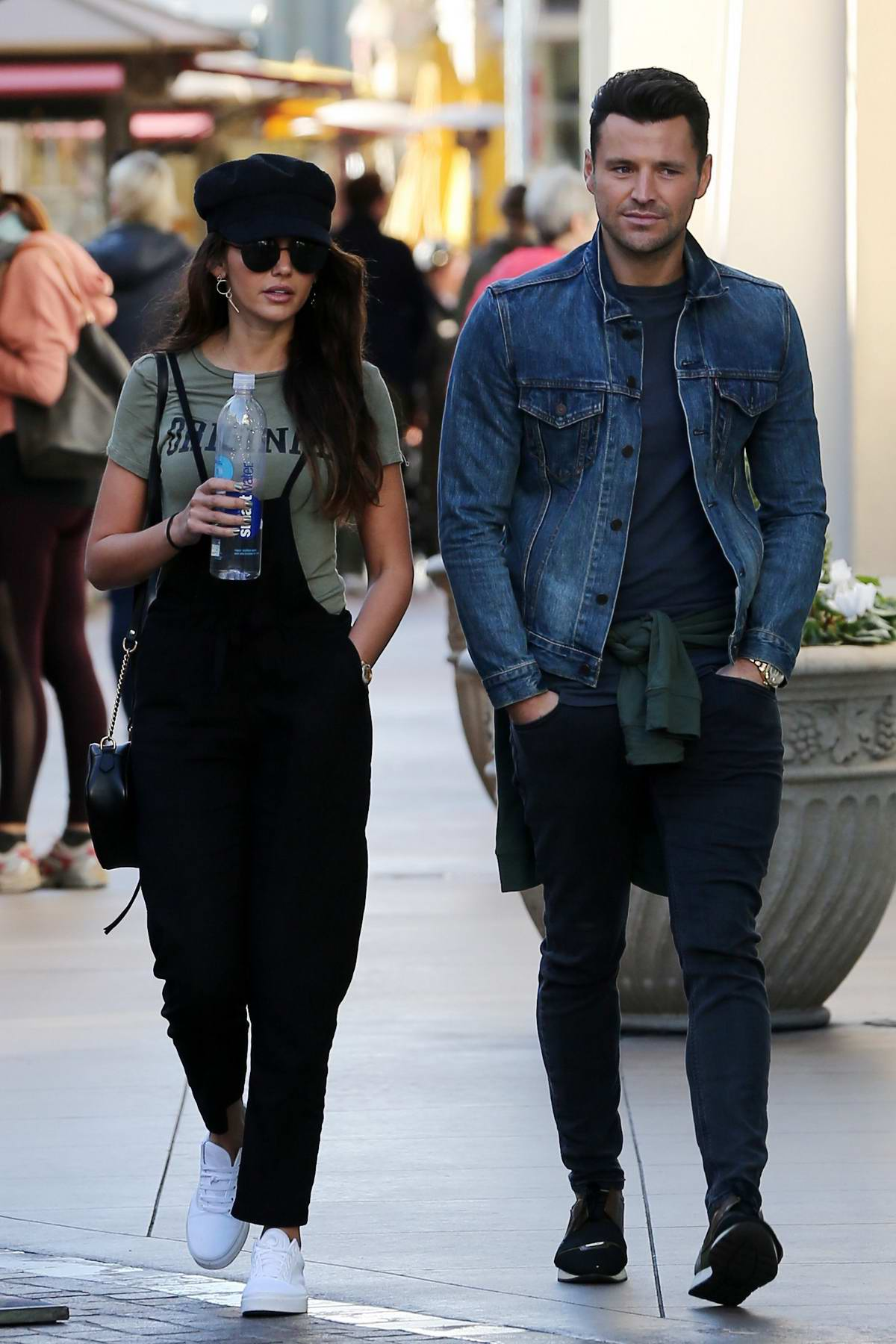 Michelle Keegan and Mark Wright enjoys a stroll after lunch in Los Angeles