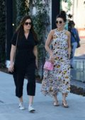 Michelle Keegan and Mark Wright enjoys lunch with a friend at Cecconi in West Hollywood, Los Angeles