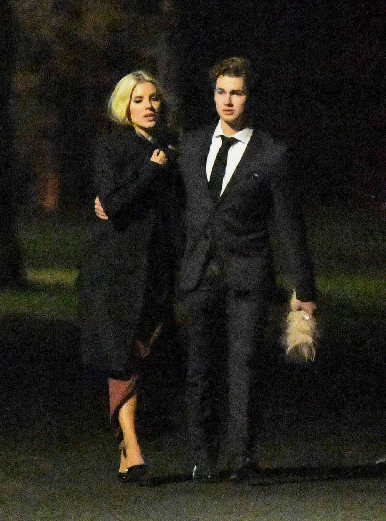 Mollie King and AJ Pritchard seen leaving after attending a wedding together in Liverpool, UK