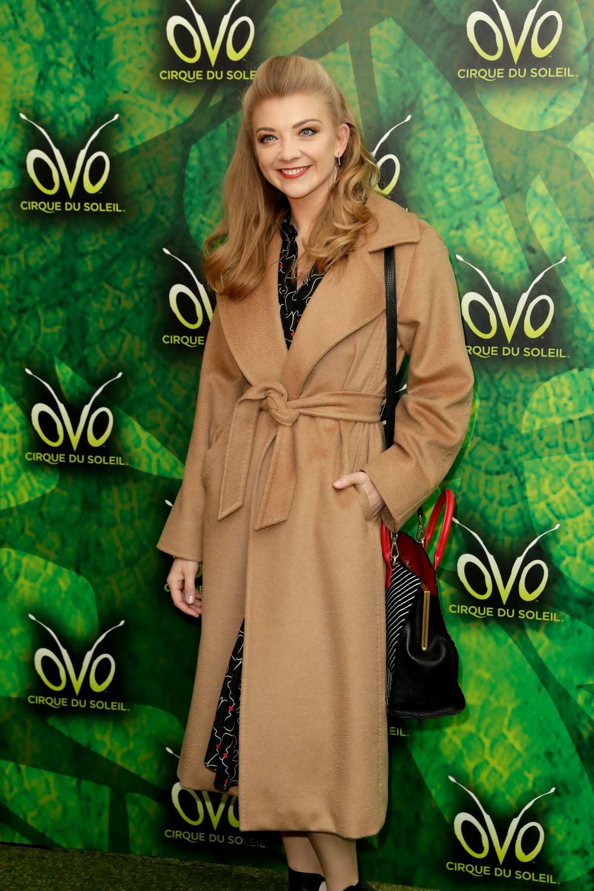 Natalie Dormer attends Cirque du Soleil OVO Premiere in London