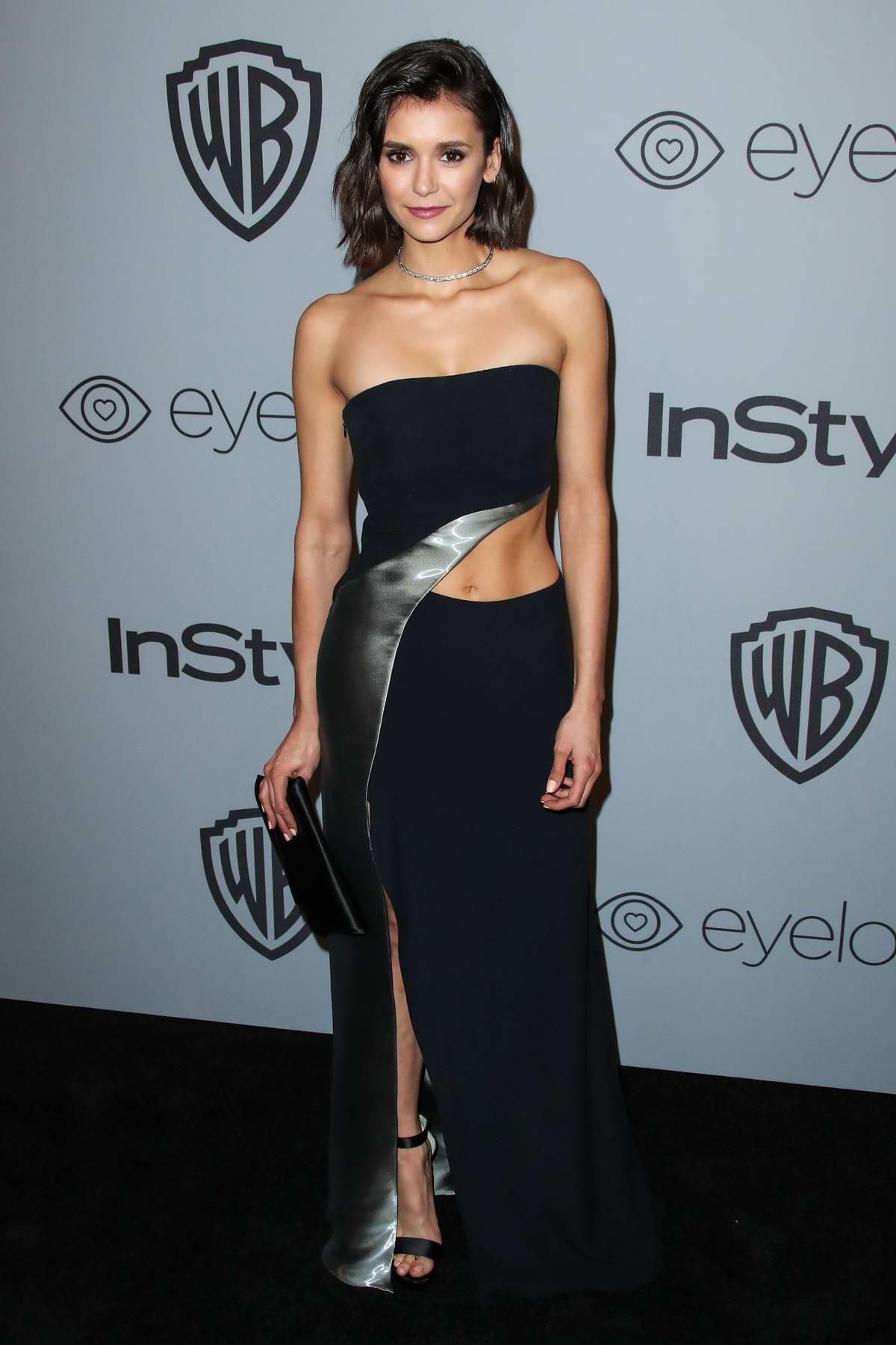 Nina Dobrev at Instyle & Warner Bros Golden Globes after party in Los Angeles