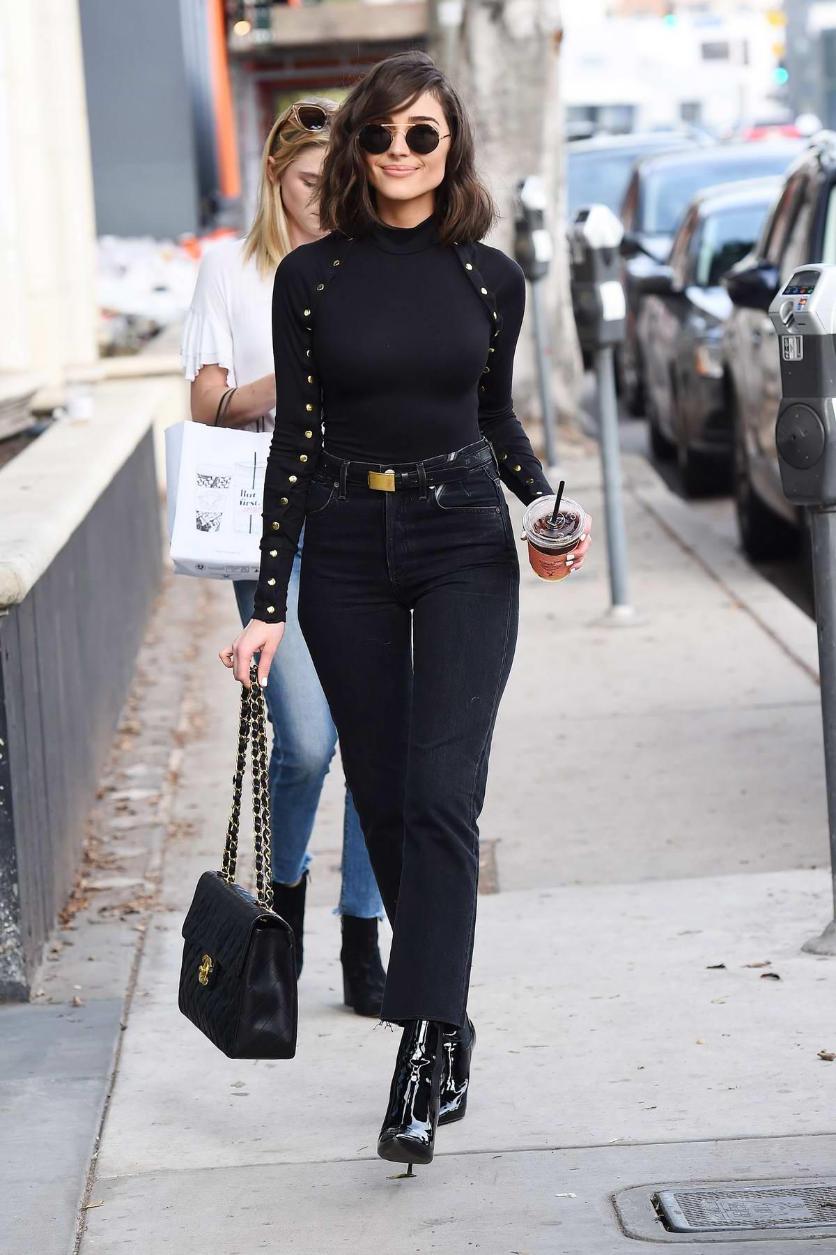 Olivia Culpo rocks in all black as she makes a coffee run in Los Angeles