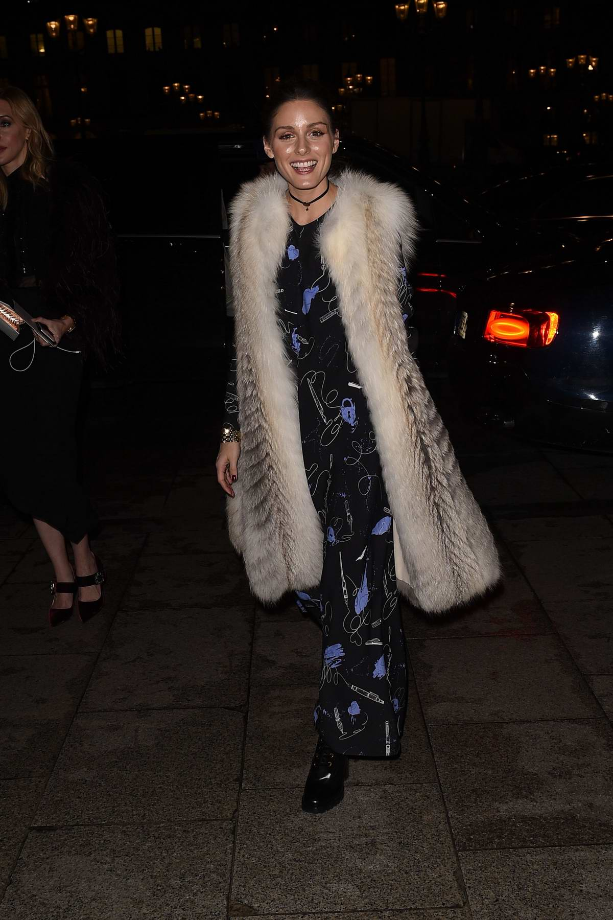 Olivia Palermo Wore A Stylish Fur Coat As She Arrives At The Ritz Hotel In Paris