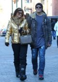 Paris Hilton and Chris Zylka out for a romantic stroll after announcing their engagement in Aspen, Colorado