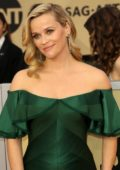 Reese Witherspoon attends the 24th Annual Screen Actors Guild (SAGs) Awards 2018 at The Shrine Auditorium in Los Angeles