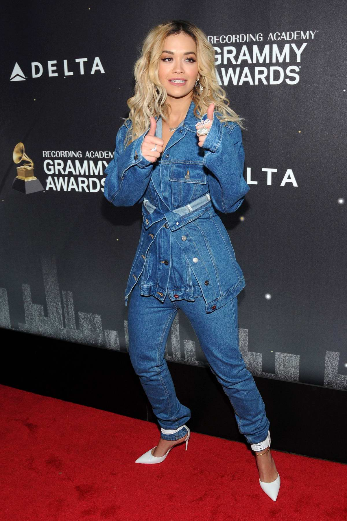 Rita Ora at Delta Airlines Pre-Grammy Party in New York City