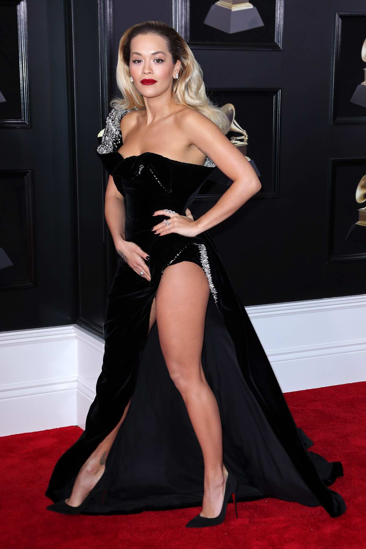 Rita Ora attends the 60th Annual Grammy Awards at Madison Square Garden in New York