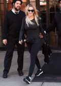 Rita Ora wears a Prada fanny pack as she heads to the gym in New York City