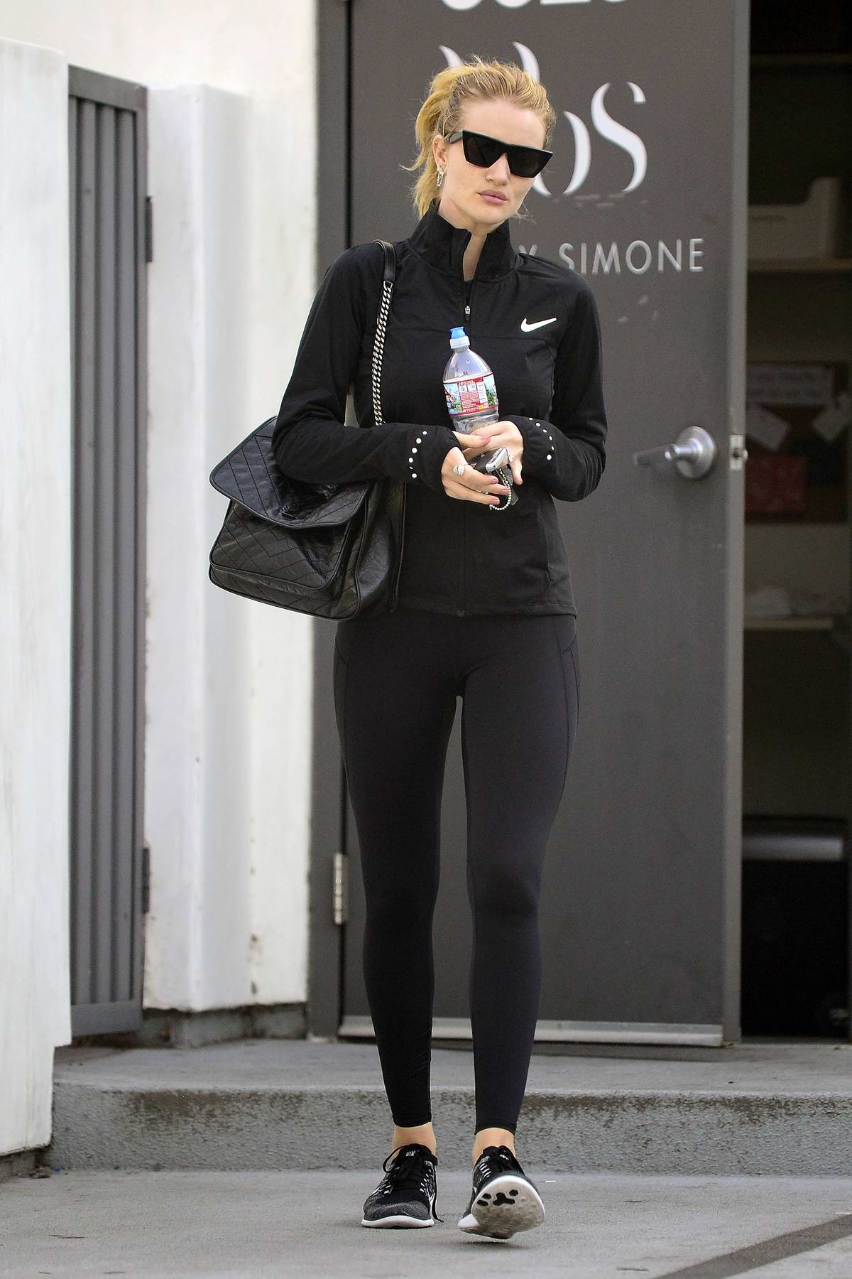 Rosie Huntington-Whiteley leaving after a workout session at Body By Simone in Los Angeles