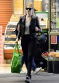 Rosie Huntington-Whiteley spotted while shopping groceries at Whole Foods on New Year's Eve in Beverly Hills, Los Angeles