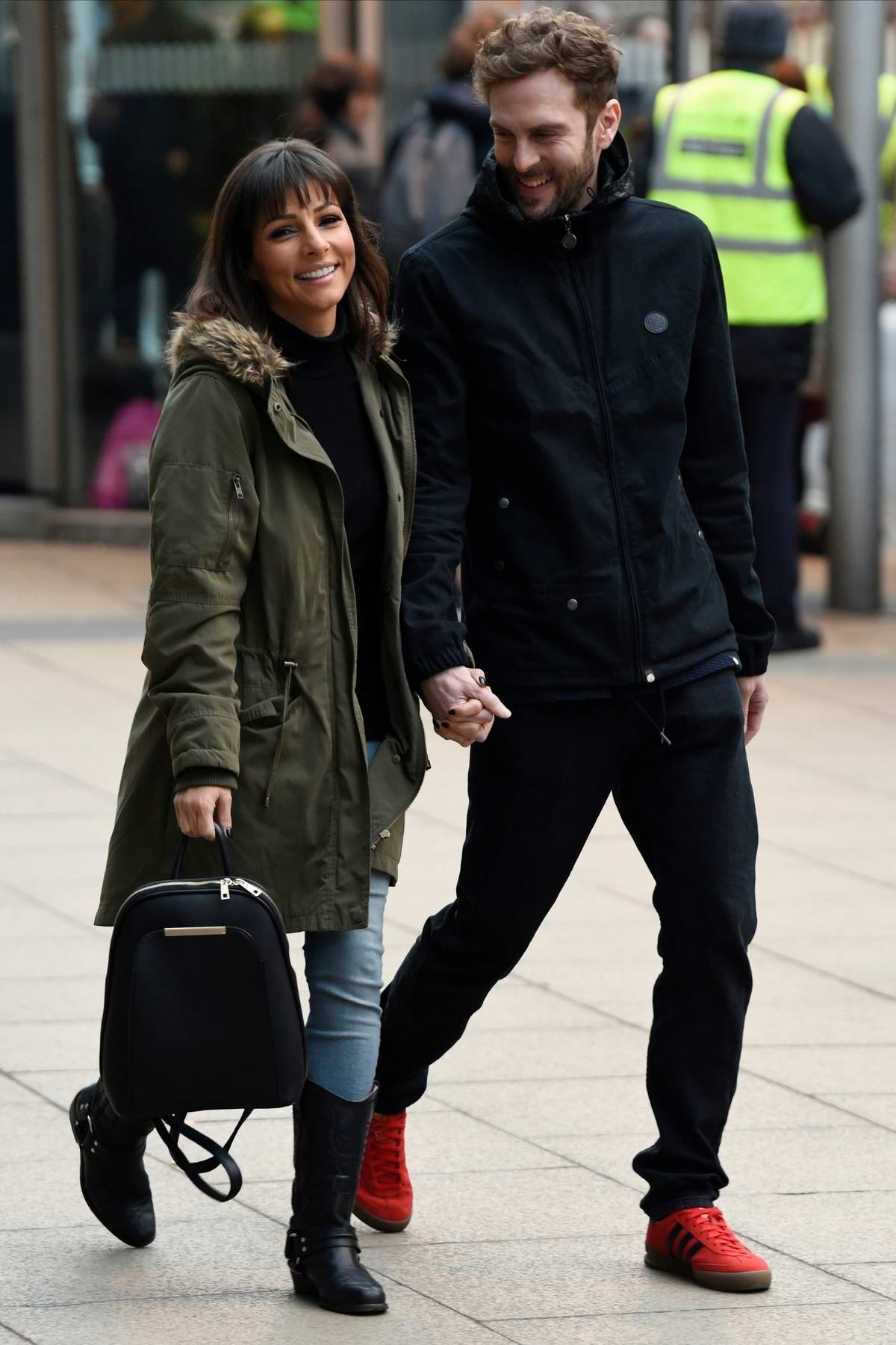 Roxanne Pallett share a kiss with new boyfriend Lee Walton while out on a date in Manchester, UK