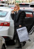 Rumer Willis grabs lunch at Cafe Gratitude while carrying a suitcase in Beverly Hills, Los Angeles