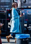 Sandra Bullock and Sarah Paulson seen on set of 'Bird Box' in Los Angeles