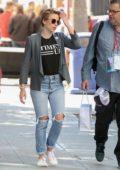 Scarlett Johansson attends the 2018 Los Angeles Women's March in Los Angeles