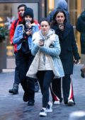 Selena Gomez heads out with friends before jumping in a helicopter in New York City