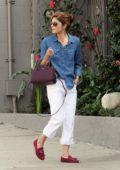 Selma Blair feeds the parking meter before running errands in Los Angeles