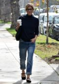 Selma Blair looks casual chic while out on a coffee run in Beverly Hills, Los Angeles