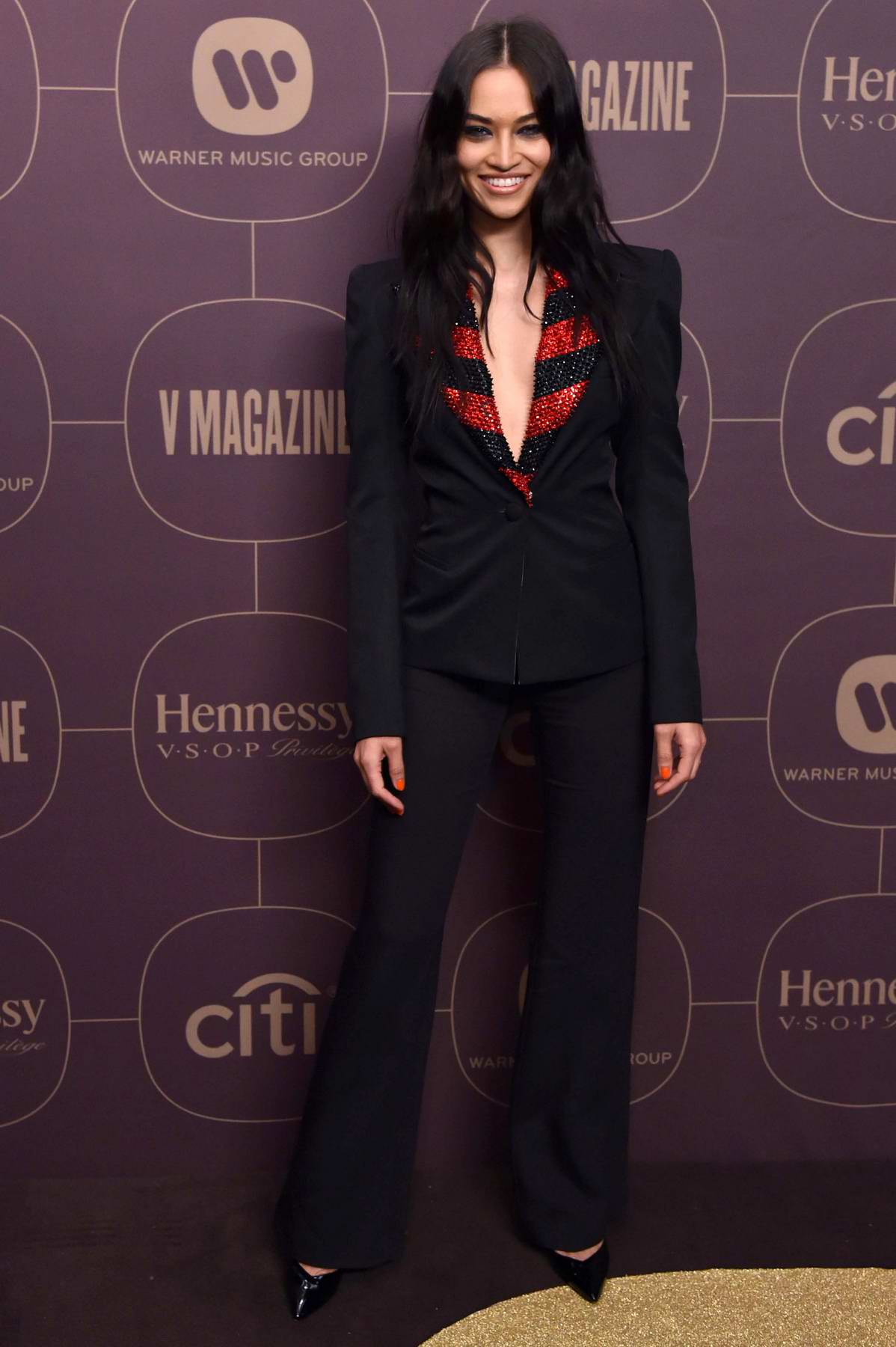 Shanina Shaik at Warner Music Pre-Grammy Party in New York City