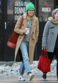 Sienna Miller enjoys her morning coffee while out with a friend in New York City