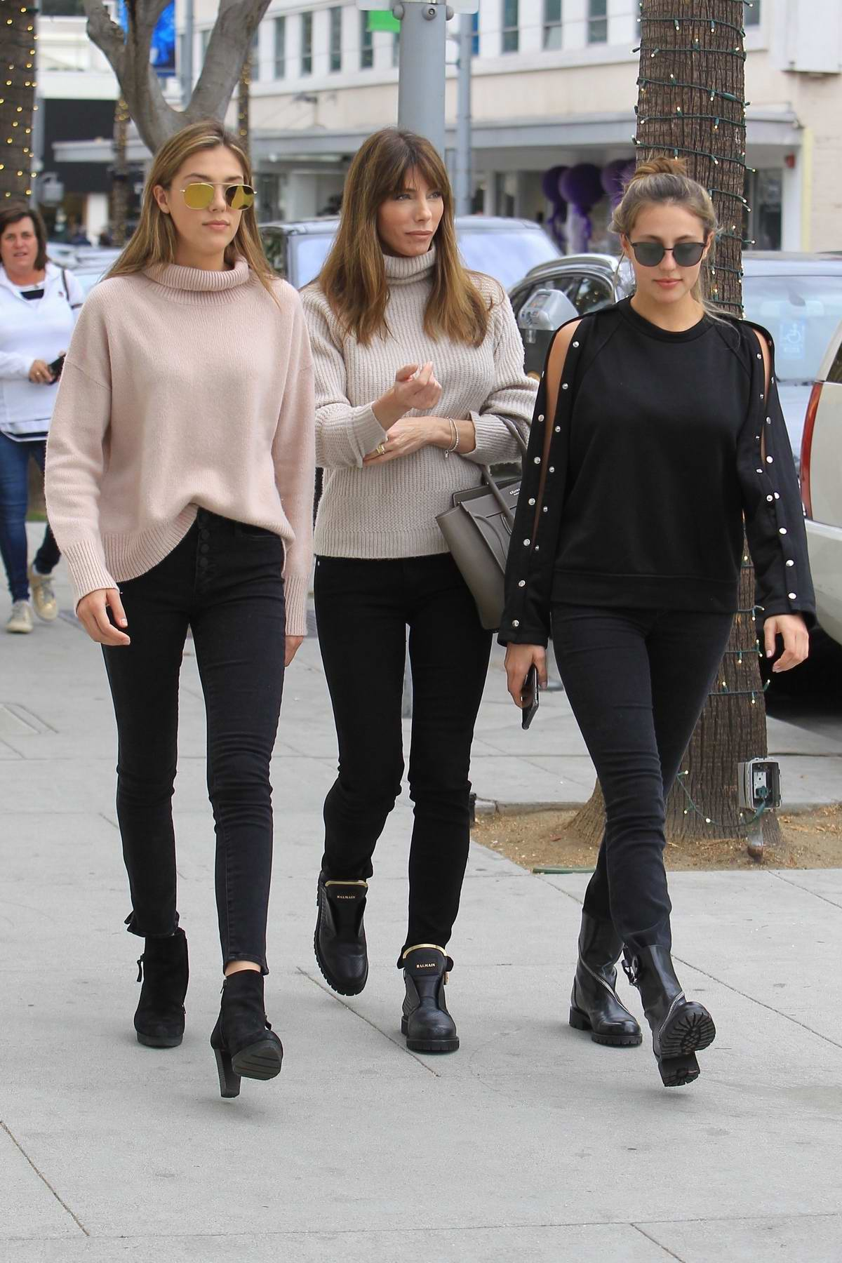 Sistine Stallone spotted while shopping with mother Jennifer Flavin and sister Sophia Stallone in Beverly Hills, Los Angeles