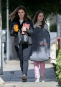 Sophia Bush makes a visit to local fashion studio in West Hollywood, Los Angeles