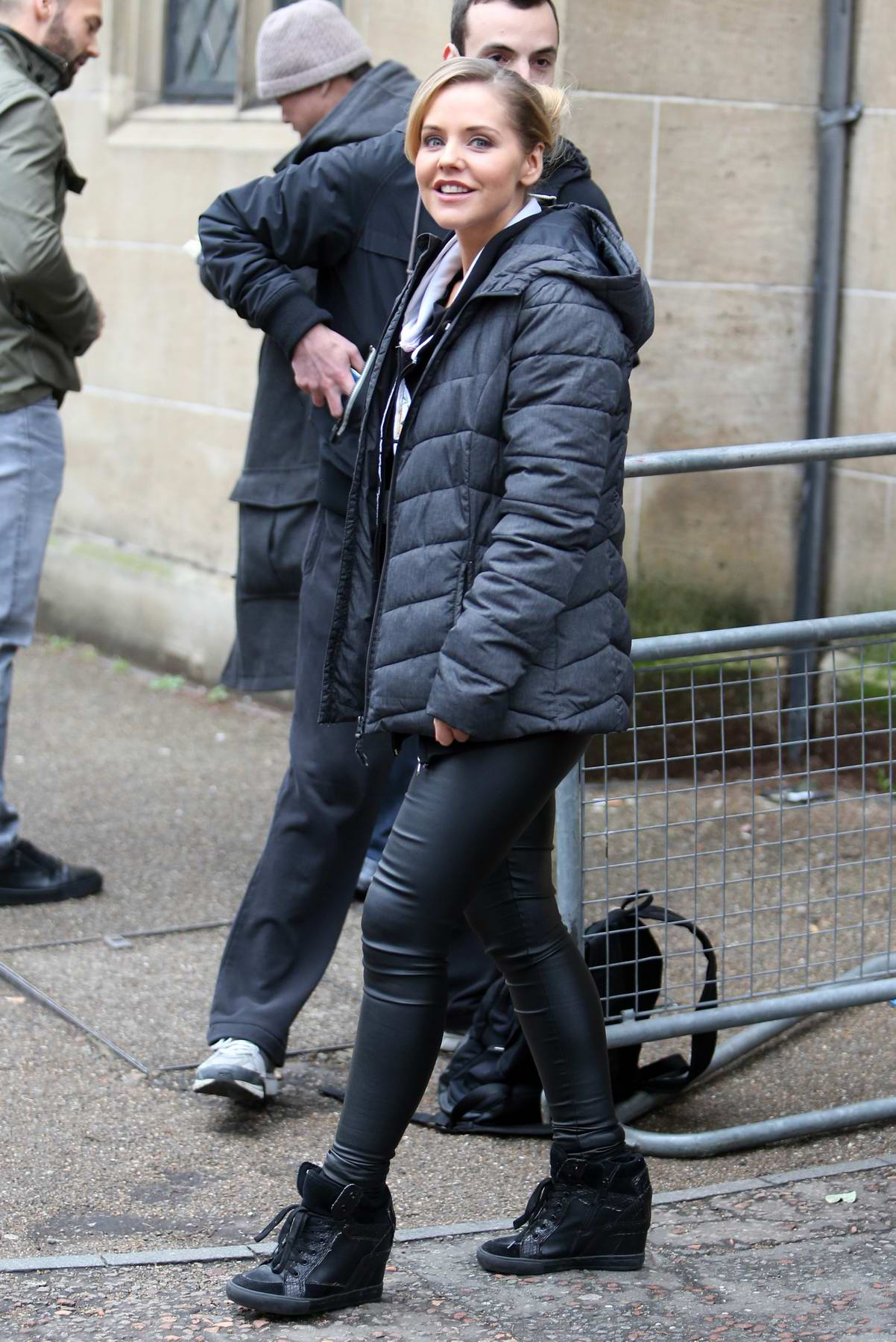 Stephanie Waring spotted outside ITV Studios in London