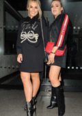 Tallia Storm enjoys a night out sister Tessie Hartmann in London