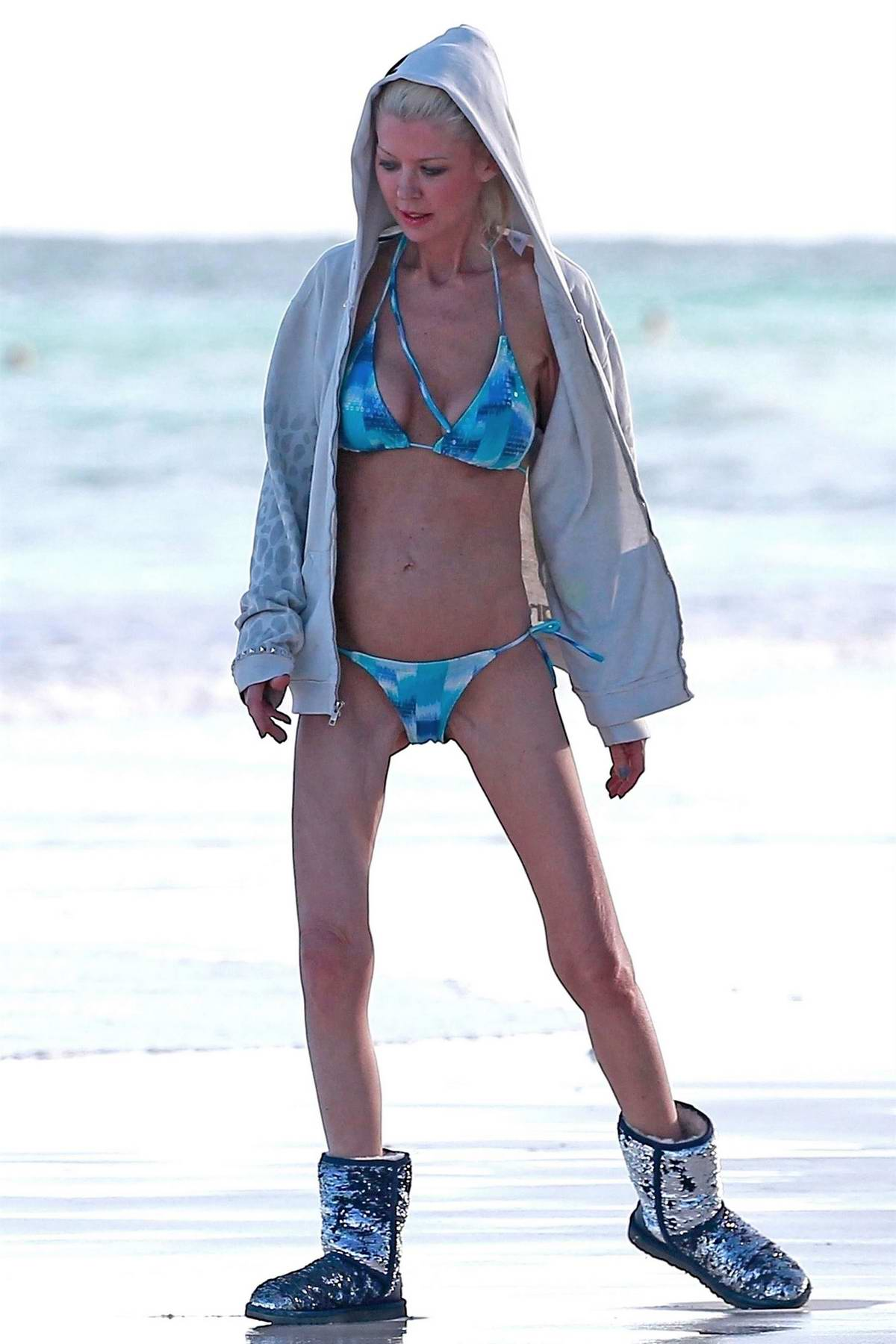Tara Reid was spotted enjoying a solo trip to the beach in Tulum, Mexico