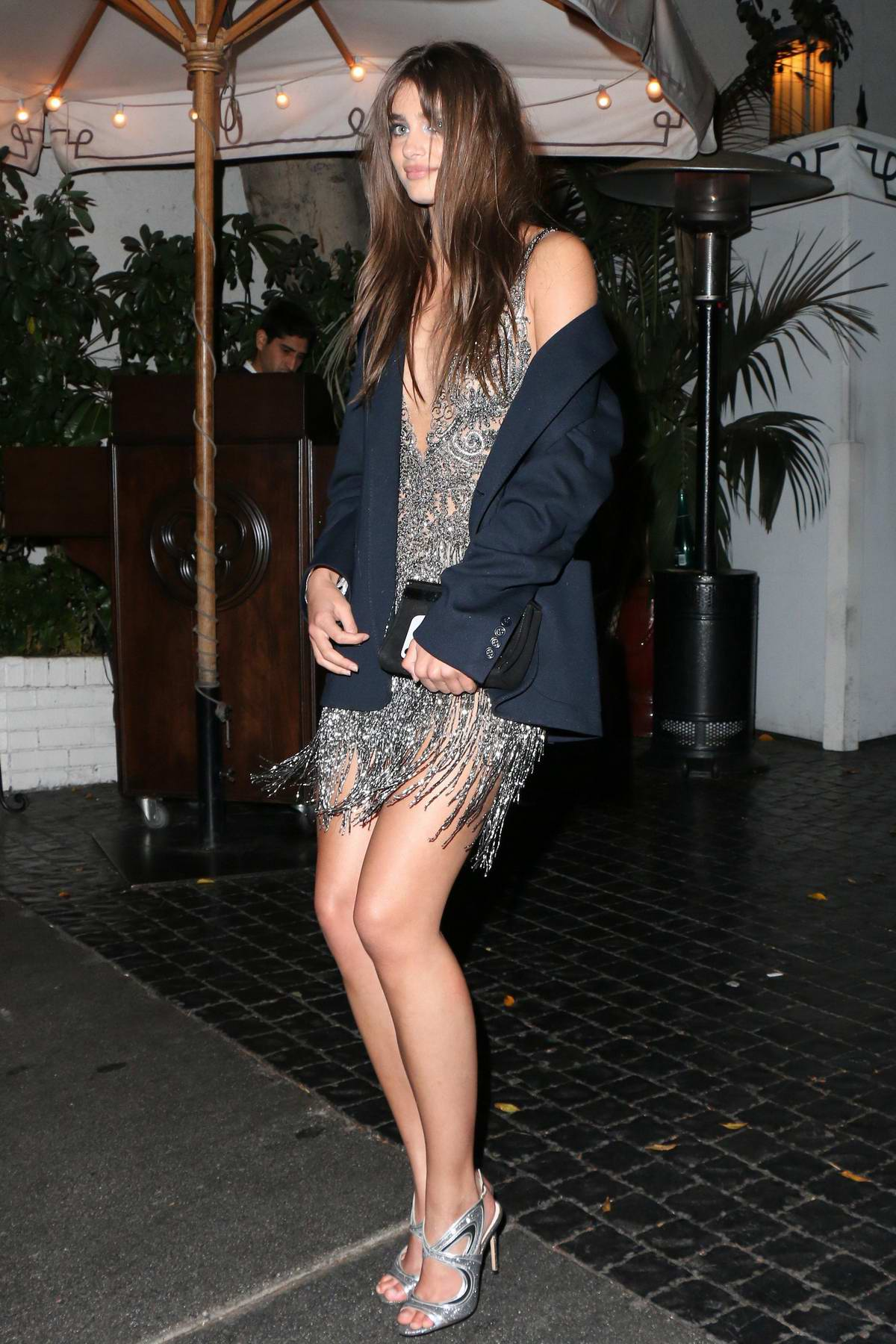 Taylor Hill leaving 2018 Pre Golden Globe Party at the Chateau Marmont in Los Angeles