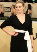 Taylor Schilling attends the 24th Annual Screen Actors Guild (SAGs) Awards 2018 at The Shrine Auditorium in Los Angeles