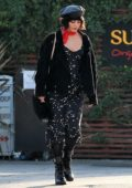 Vanessa Hudgens have lunch with her friends at SunCafe in Los Angeles