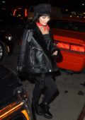 Vanessa Hudgens is spotted in an all black ensemble while out and about in New York City