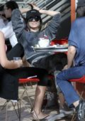 Victoria Justice enjoys lunch with her mother and sister Madison Reed in Studio City, Los Angeles