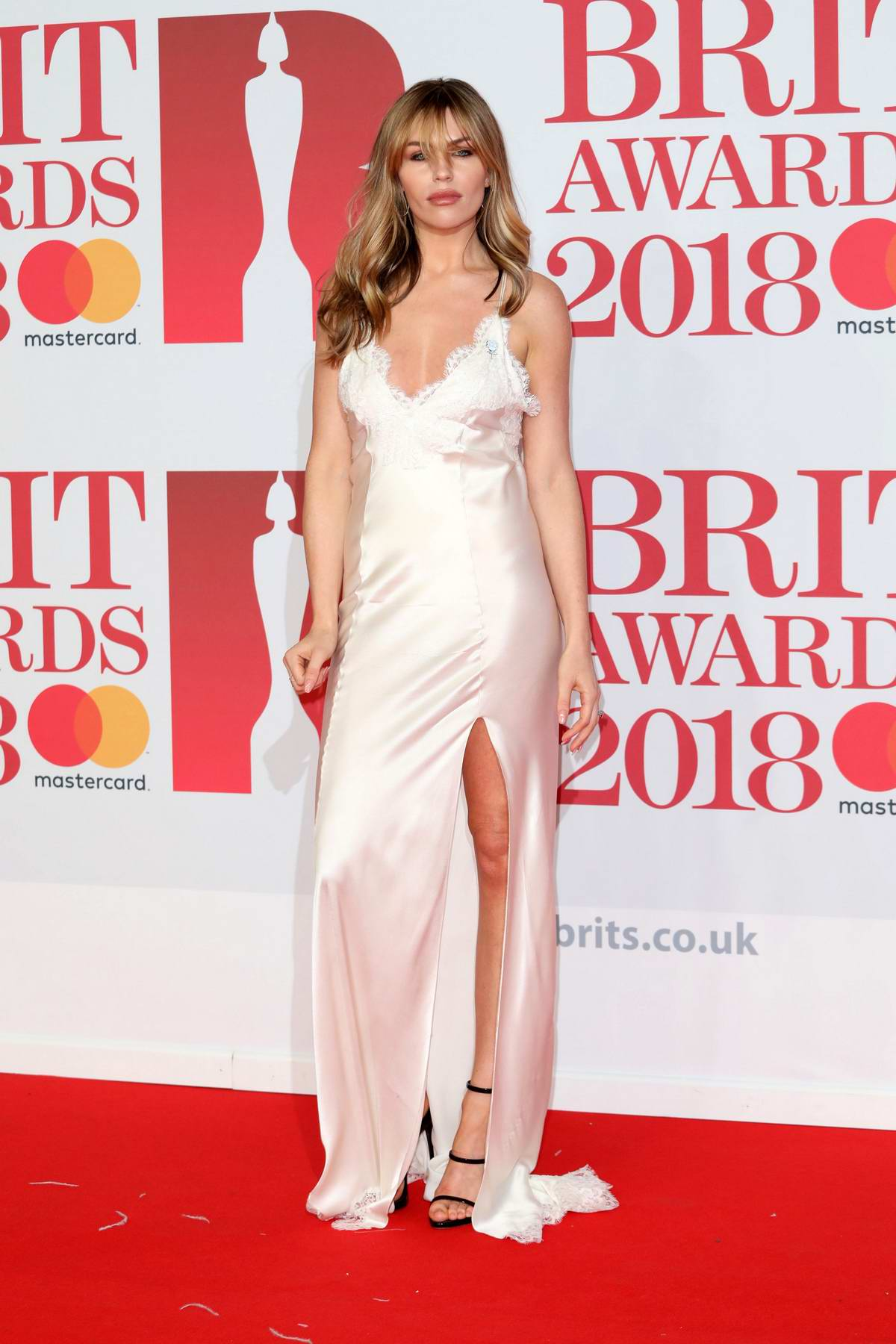 Abbey Clancy attends the 38th Brit Awards, held at the O2 Arena in London