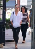 Alessandra Ambrosio out to lunch with her mother in Brentwood, Los Angeles