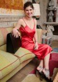 Alexandra Daddario at Amo Ferragamo hosted by Suki Waterhouse in New York City