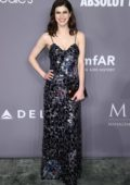 Alexandra Daddario attends 2018 amfAR Gala New York at Cipriani Wall Street in New York City