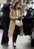 Alicia Vikander and Michael Fassbender arriving for lunch in Madrid, Spain